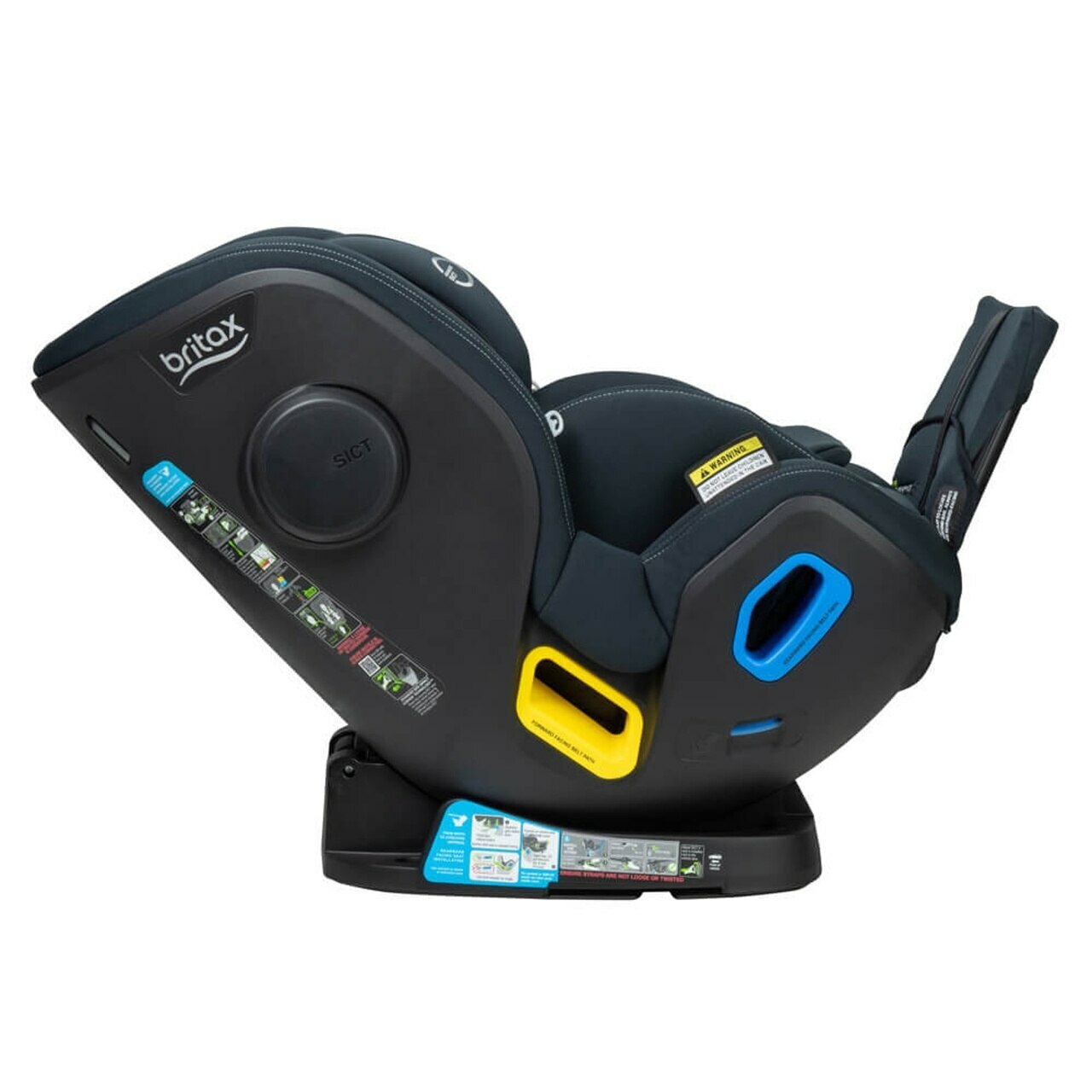 b first ifix has the latest isofix seat in new generation range with rearward facing level indicator