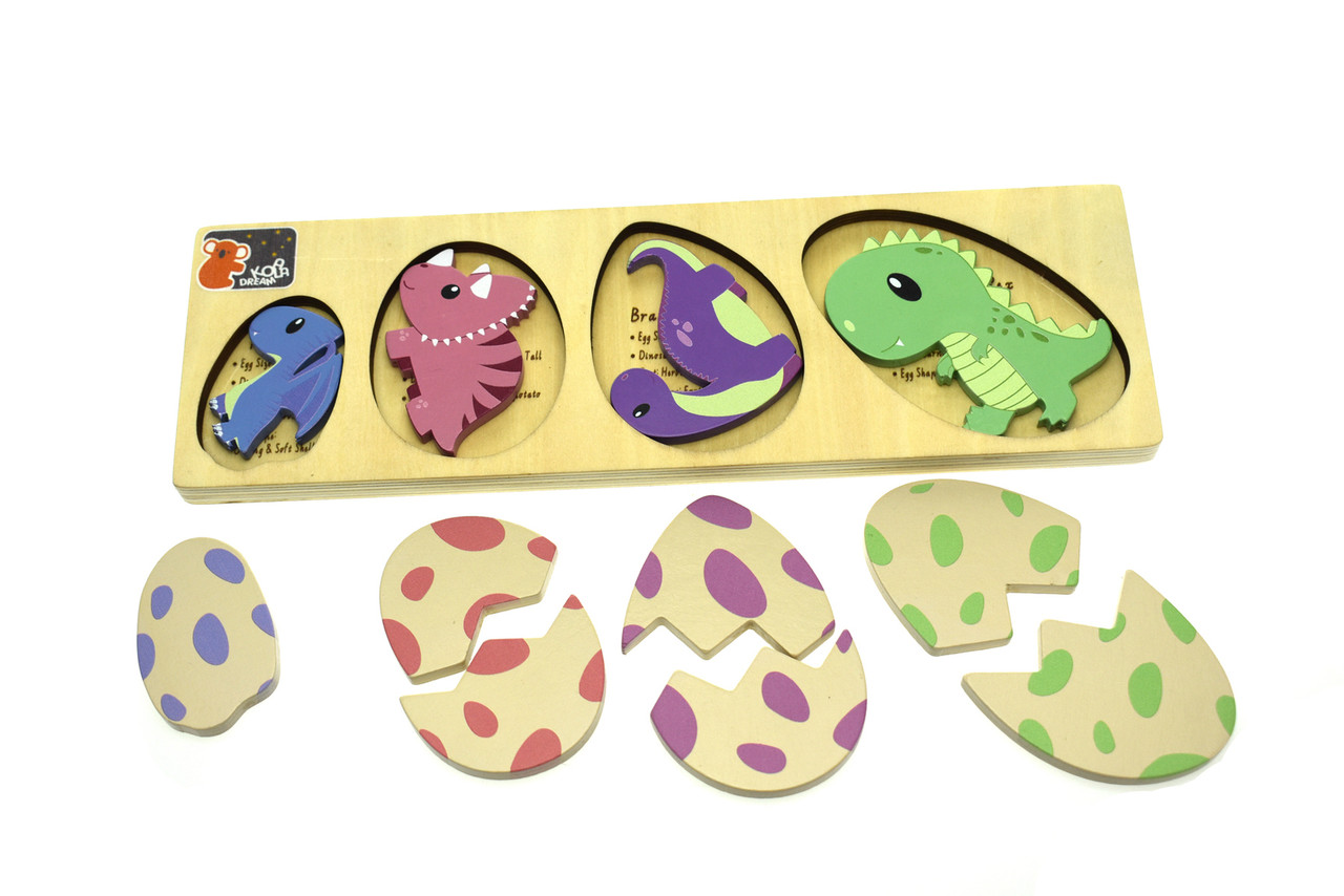 Kaper Kidz Wooden Dinosaur Egg Puzzle with Fact Check