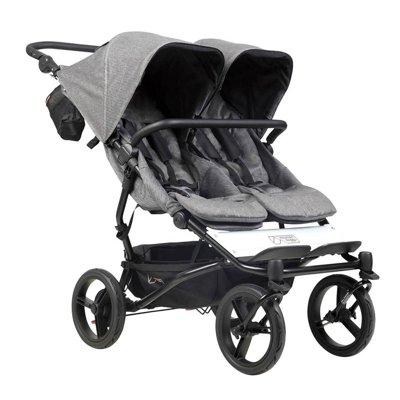 Mountain Buggy Duet v3 Luxury Edition Herringbone at Baby Barn Discounts Mountain Buggy Duet Herringbone now available with Aeromaxx wheels and matching Herringbone nappy bag.