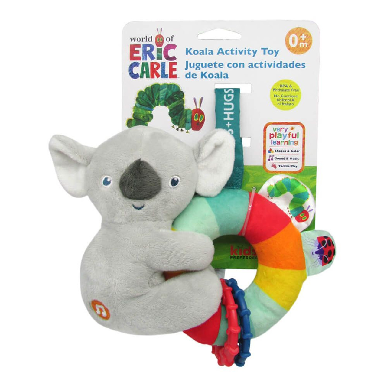 World of Eric Carle Koala Activity Toy at Baby Barn Discounts Instant recognisable very hungry caterpillar and the iconic Koala, this rattle teether soft toy is sure to entertain the young ones.