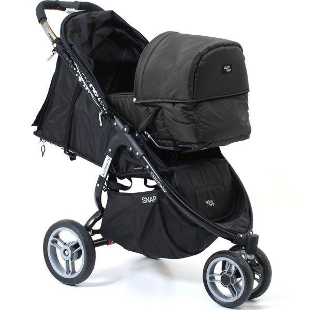 Valco Baby Eclipse Bassinet to Suit Snap & Snap 4 at Baby Barn Discounts Valco Eclipse Bassinet has a quick attach and release system to suit Valco Snap 4 stroller.