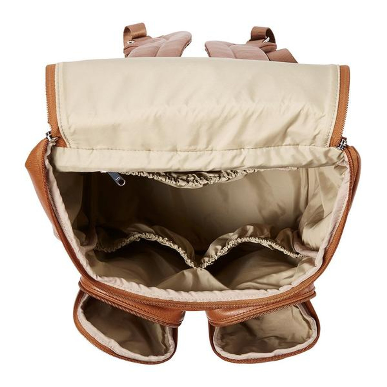 OiOi Faux Leather Nappy Backpack TAN at Baby Barn Discounts