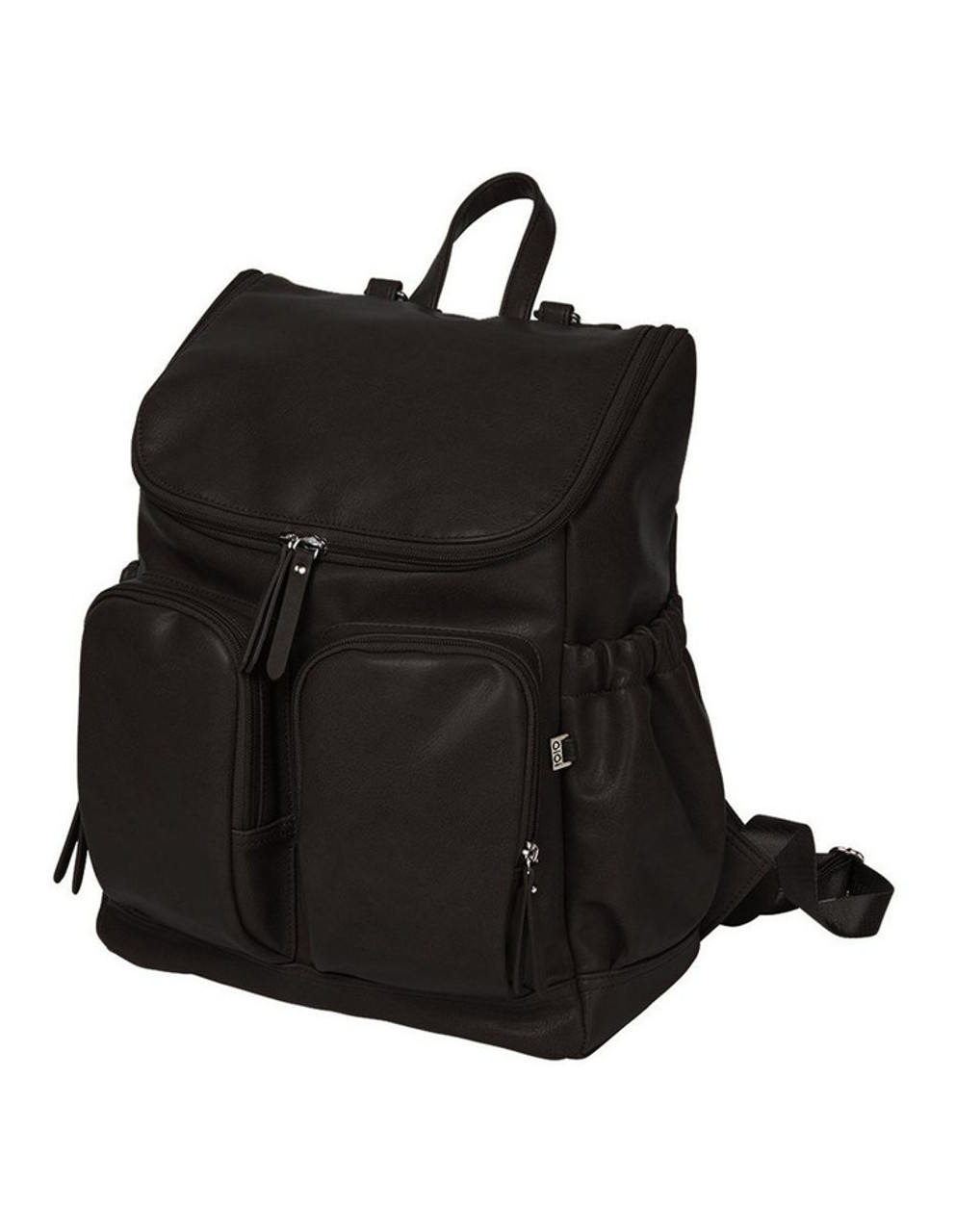 OiOi Faux Leather Nappy Backpack BLACK at Baby Barn Discounts