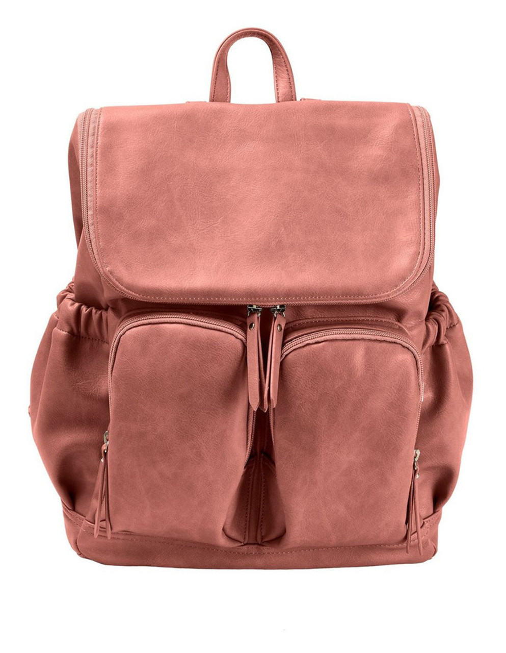 OiOi Faux Leather Nappy Backpack DUSTY ROSE at Baby Barn Discounts