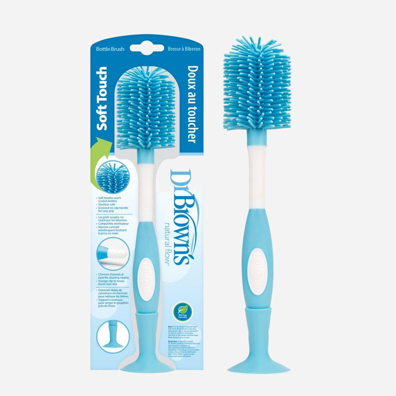 Dr Brown's Soft Touch Bottle Brush at Baby Barn Discounts Thoroughly and efficiently clean all of your bottles with Dr Brown's Soft Touch Bottle Brush.
