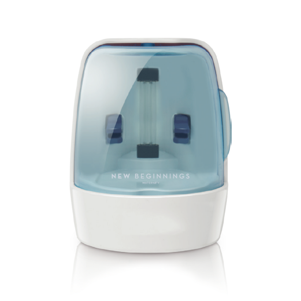 New Beginnings Portable Mini UV Steriliser at Baby Barn Discounts Compact and light weight our Mini Steriliser allows you to sterilise your bub's teats and dummies on the go.