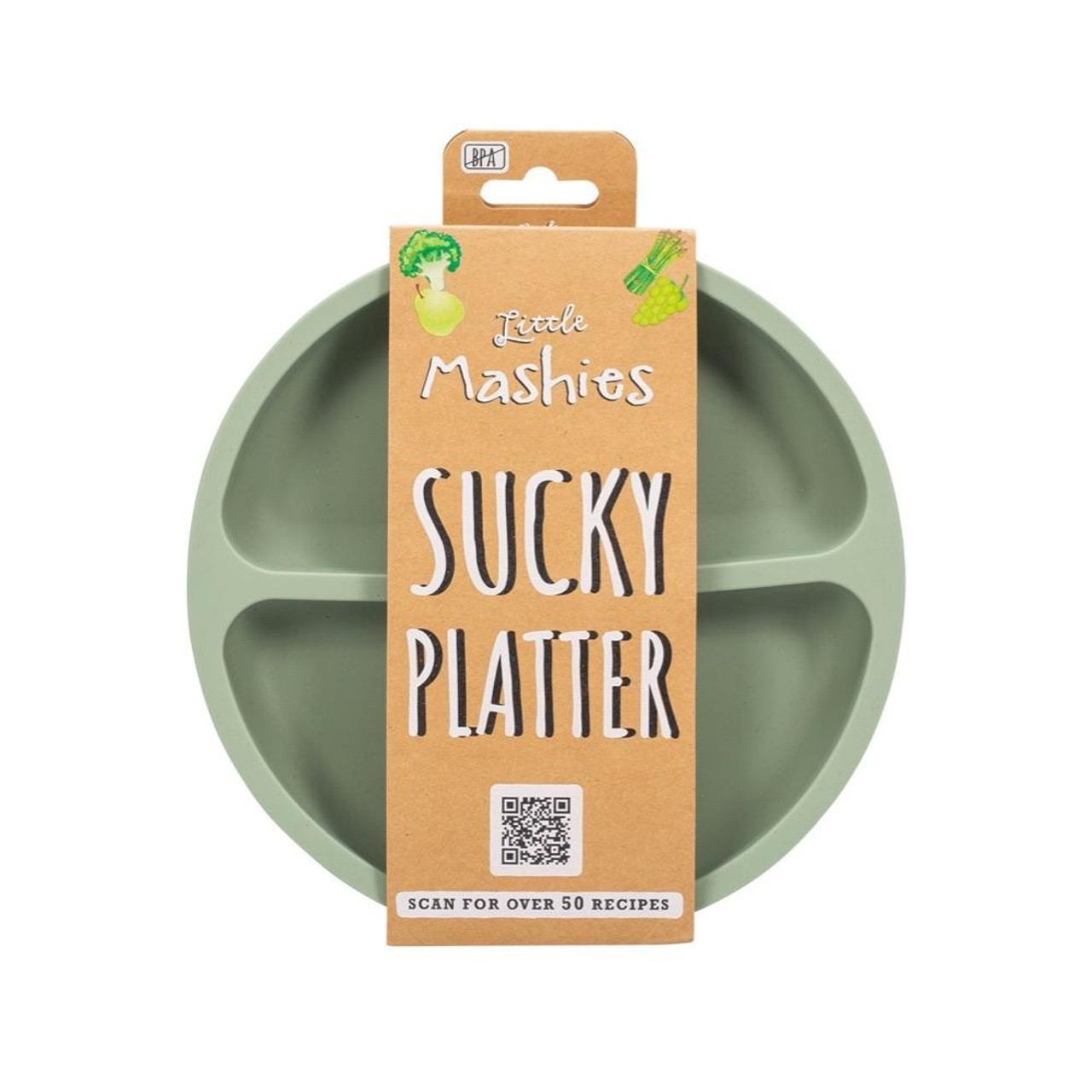 Little Mashies Sucky Platter at Baby Barn Discounts Little Mashies platter is 100% food grade silicone it is BPA free, non toxic and dishwasher safe!