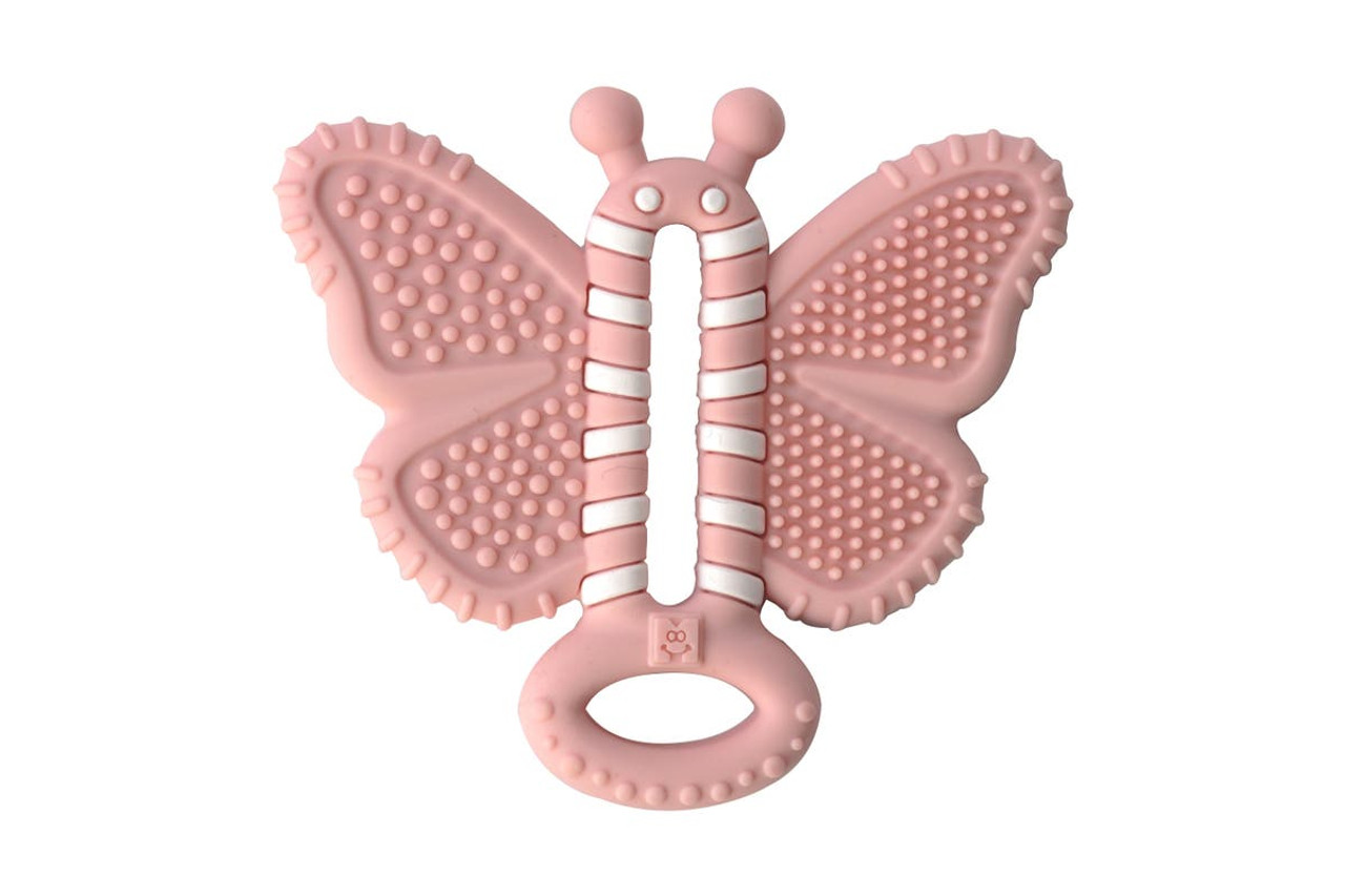 Malarkey Butterfly Baby Teether Brush at Baby Barn Discounts Malarkey tailor-made for baby's first teeth, this unique teether-brush provides sensory satisfaction to baby's sensitive gums, lips and tongue.