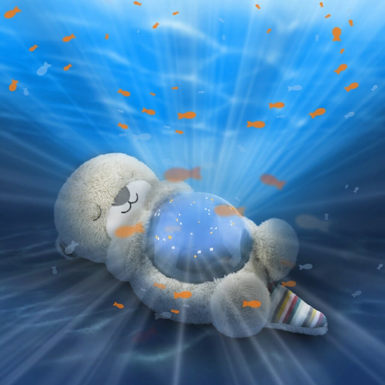 Zazu Ocean Projector CODY at Baby Barn Discounts Turn your little one's room into a magical underwater world, with moving waves and fish swimming around the room, while listening to relaxing ocean sounds.