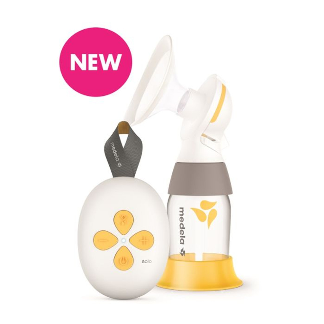 Medela Solo Single Electric Breastpump at Baby Barn Discounts Solo™ is a compact, effective and easy to use single electric breast pump with rechargeable built in battery, 2-phase Expression® technology and PersonalFit Flex™ breast shield.