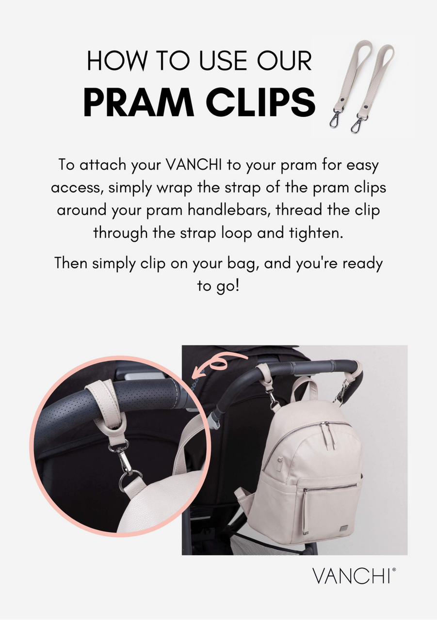 Vanchi Leatherette Pram Clips at Baby Barn Discounts
