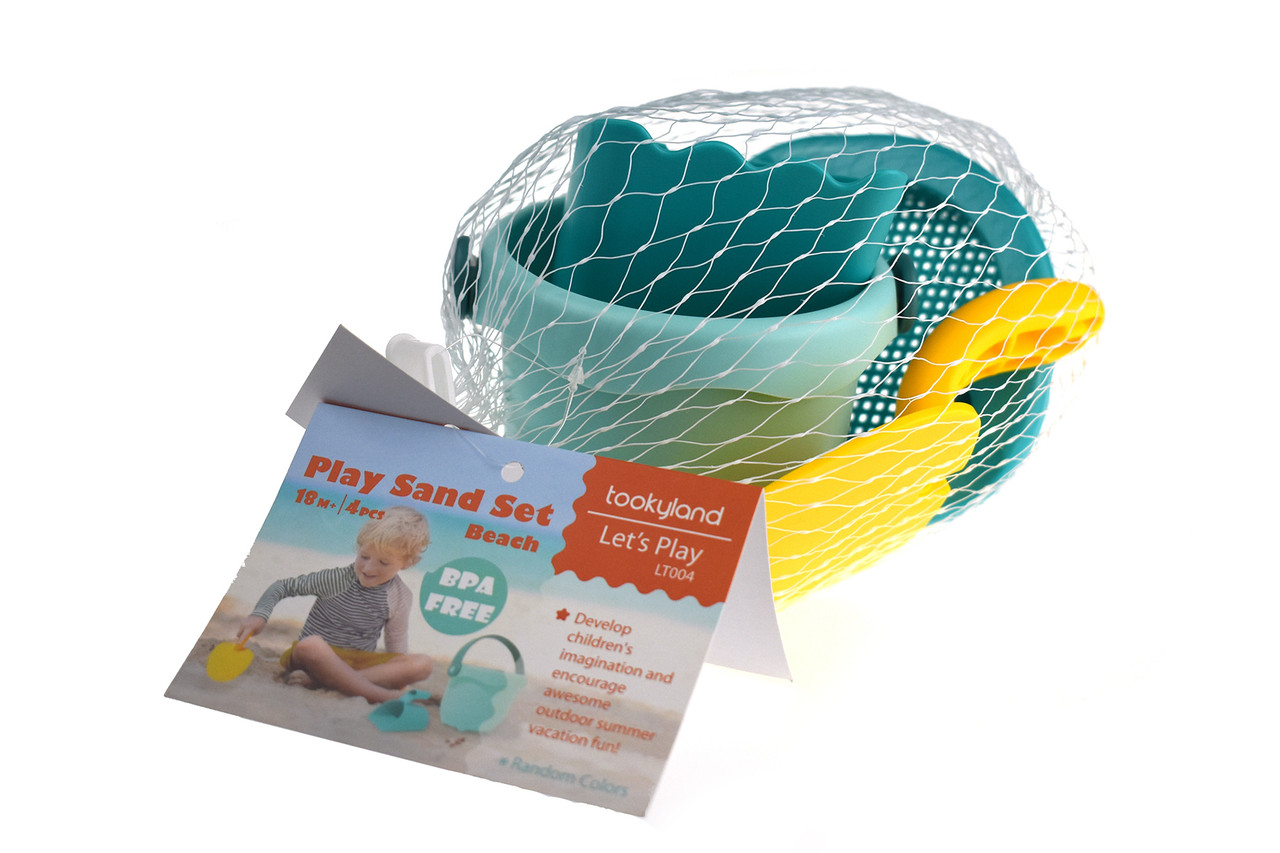 Let's Play Sand Set Beach 4pcs at Baby Barn Discounts Develop imagination and creativity this summer with some outdoor fun! Perfect for water play and sand play this set can be used at home or on the beach.