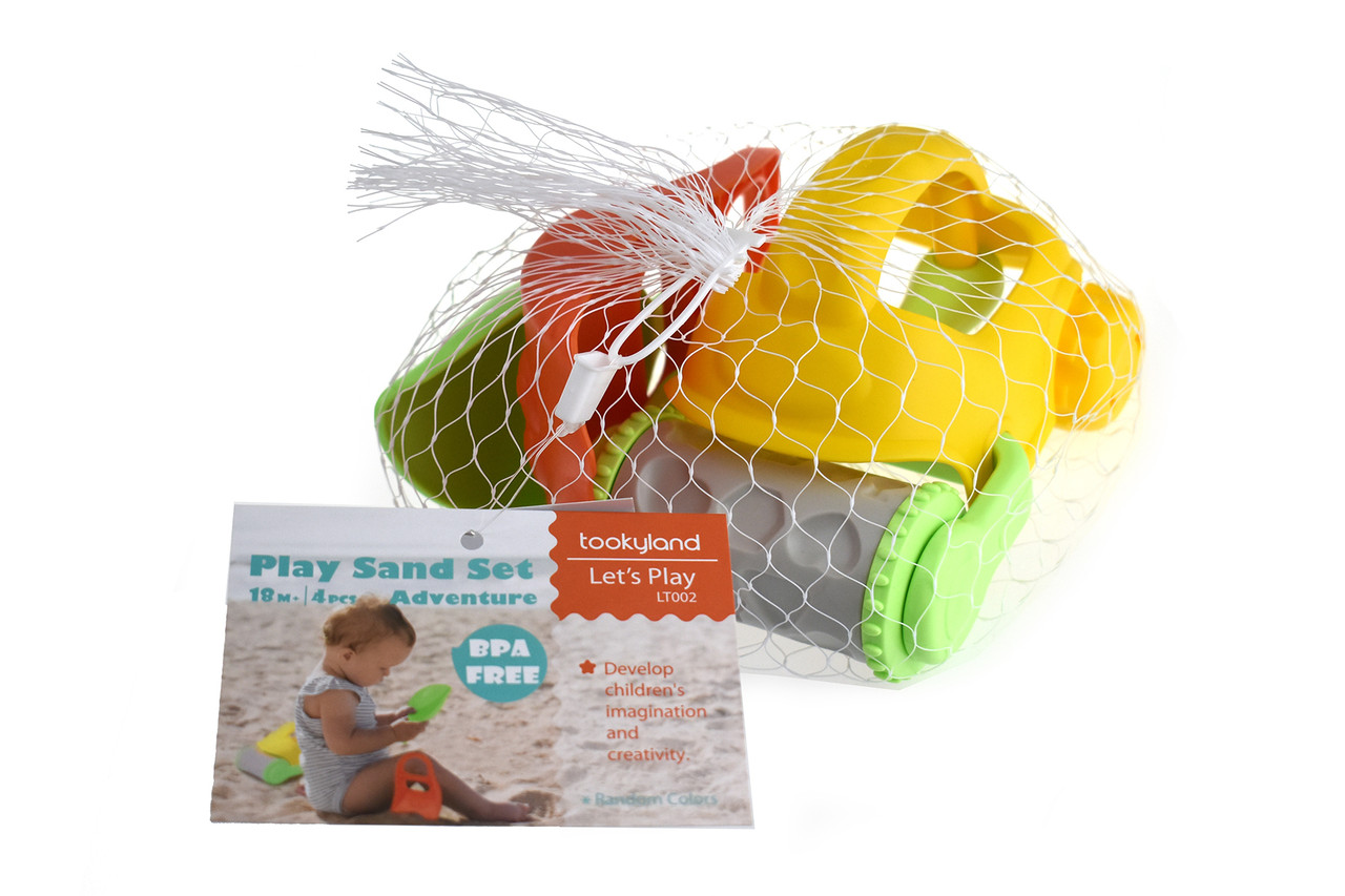 Lets Play Sand Set Adventure 4pcs at Baby Barn Discounts Get ready for tons of fun with the Adventure Beach Toy Play Set. Dig, rake and roll at home or on the go! Perfect for all kinds of sand play this summer time.