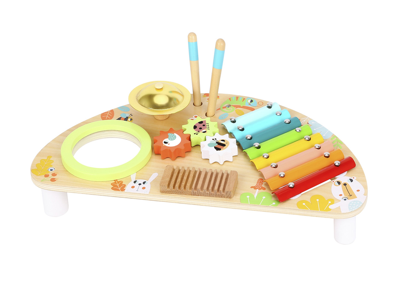 Tooky Toy Multifunction Music Centre at Baby Barn Discounts All the musical instruments your little one could ever want in one place! With a beautiful rainbow and wood design that will suit any nursery or playroom.