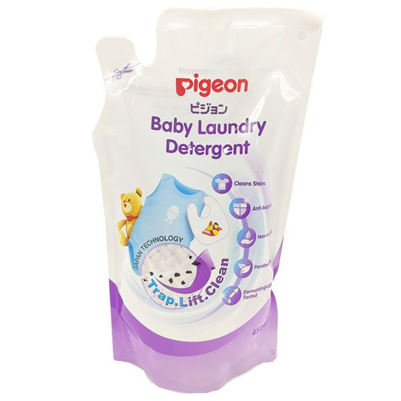 Pigeon Baby Laundry Detergent 450ml Refill at Baby Barn Discounts Pigeon Baby Laundry Detergent washes away dirt, stains and everyday mishaps.
