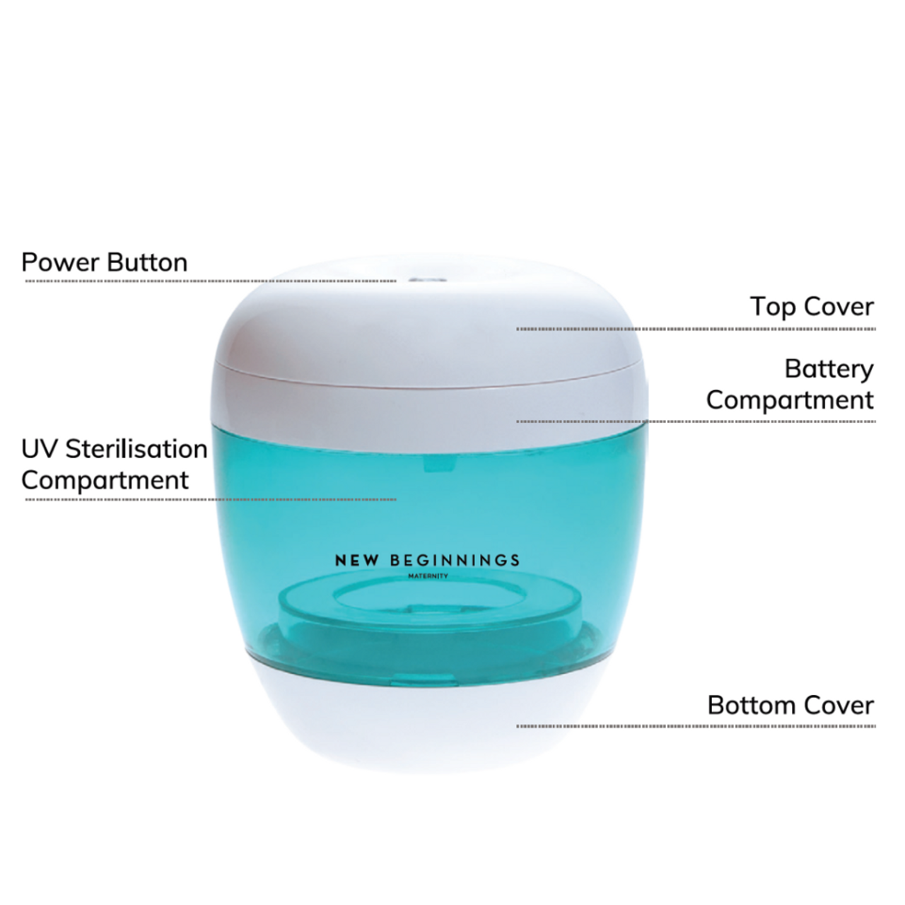 New Beginnings Portable 4-in-1 UV Steriliser at Baby Barn Discounts Easy and compact UV Steriliser allows you to eliminate 99.9% of germs and bacteria from bottles & teats