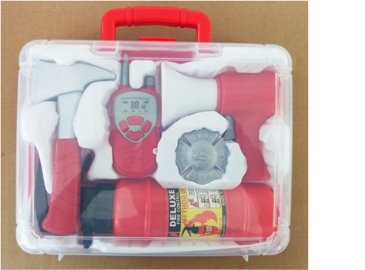 Deluxe Firefighter Kit in Case at Baby Barn Discounts Save the day with this Deluxe Firefighter Kit Little ones will love rescuing their playmates with this awesome kit!