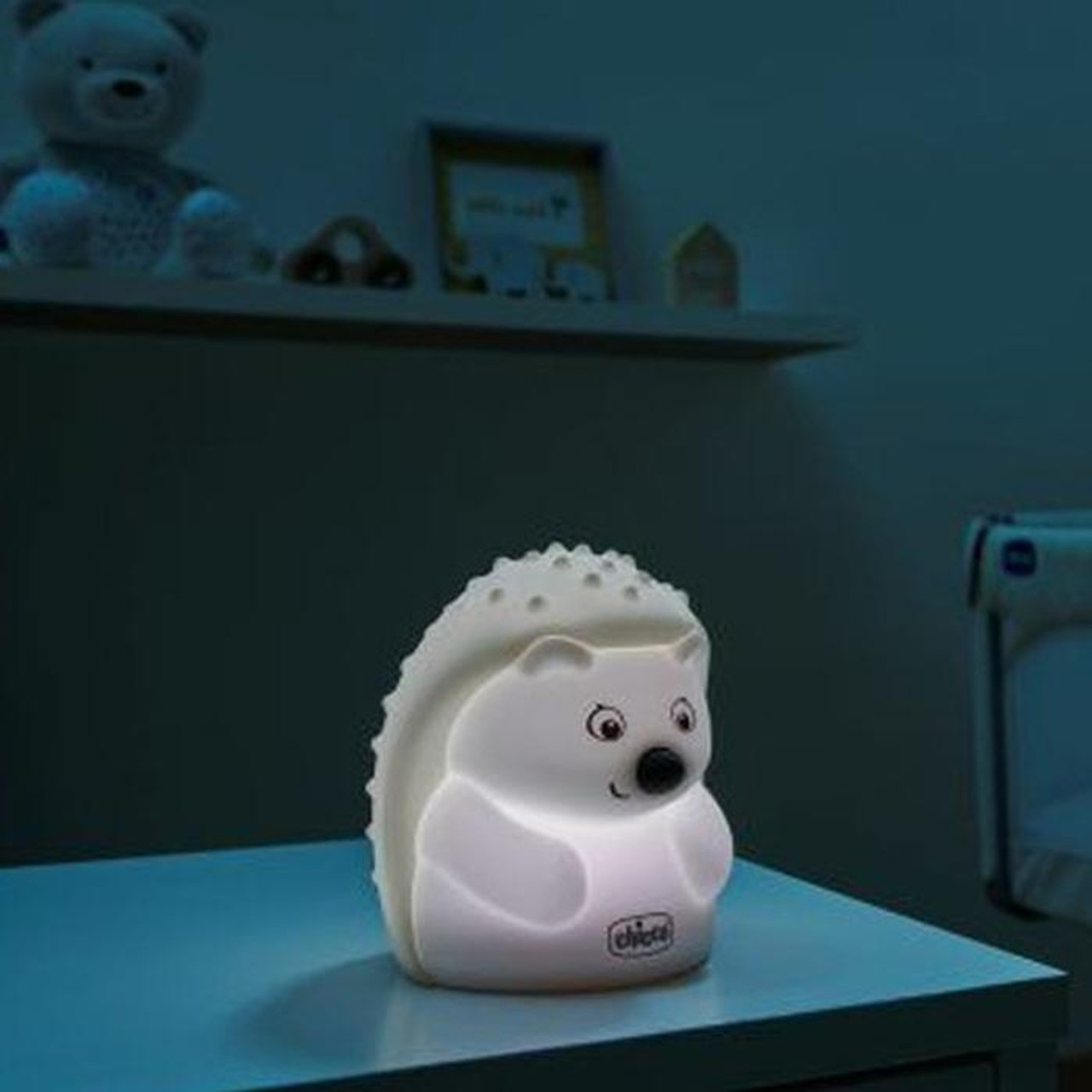 Chicco Sweet Lights Rechargeable Lamp at Baby Barn Discounts Rechargeable night light by Chicco is a lamp with the likeness of a cute characters.