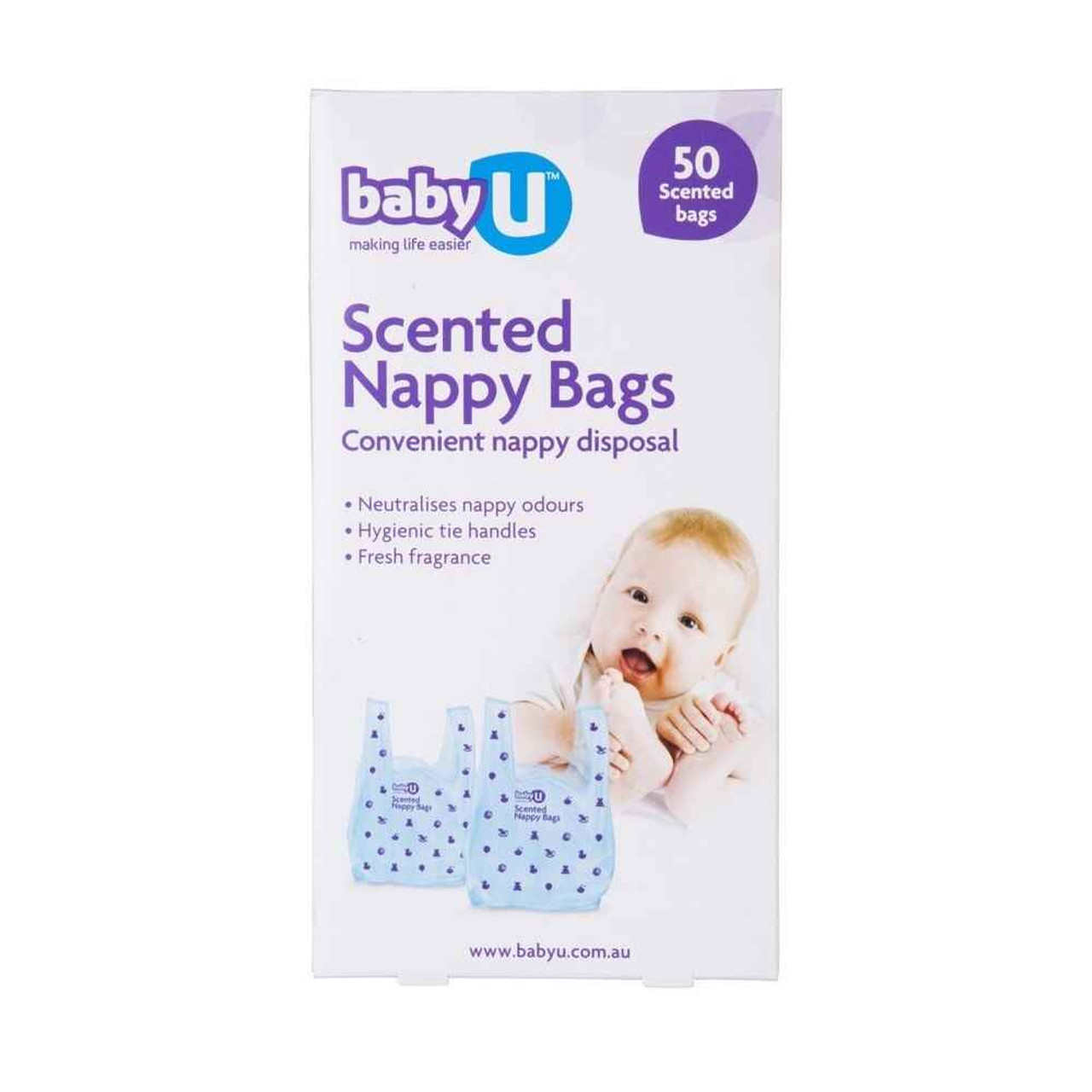 Baby U Baby U Scented Nappy Bags 50 Pack