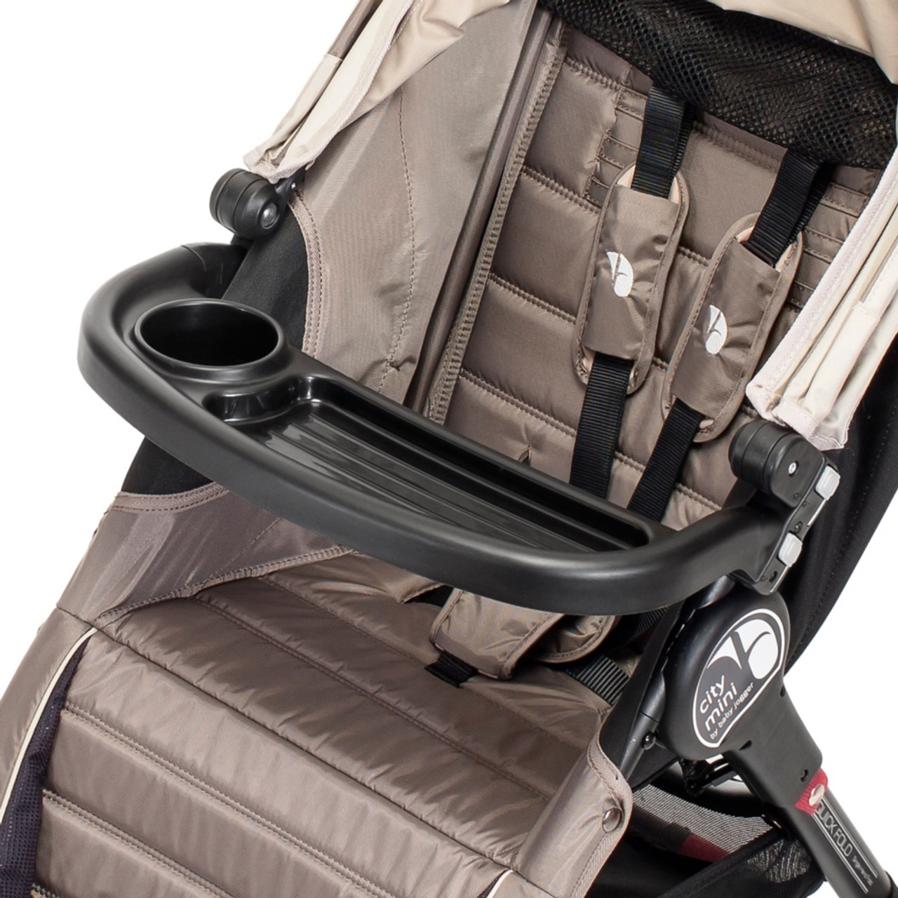 Baby Jogger Child Tray Single Fits City Mini, City Mini GT and City Elite - Every child can easily find his or her drink and snacks with the Single Child Tray.