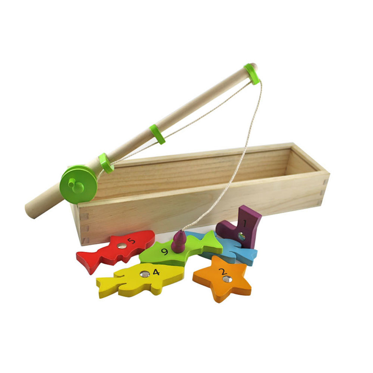 Discoveroo Wooden Magnetic Fishing Game