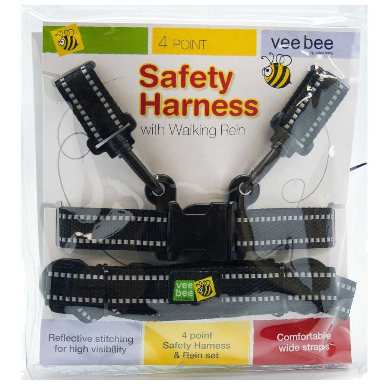 Vee Bee 4 Point Safety Harness with Walking Rein Kids Backpack & Reins 19.95