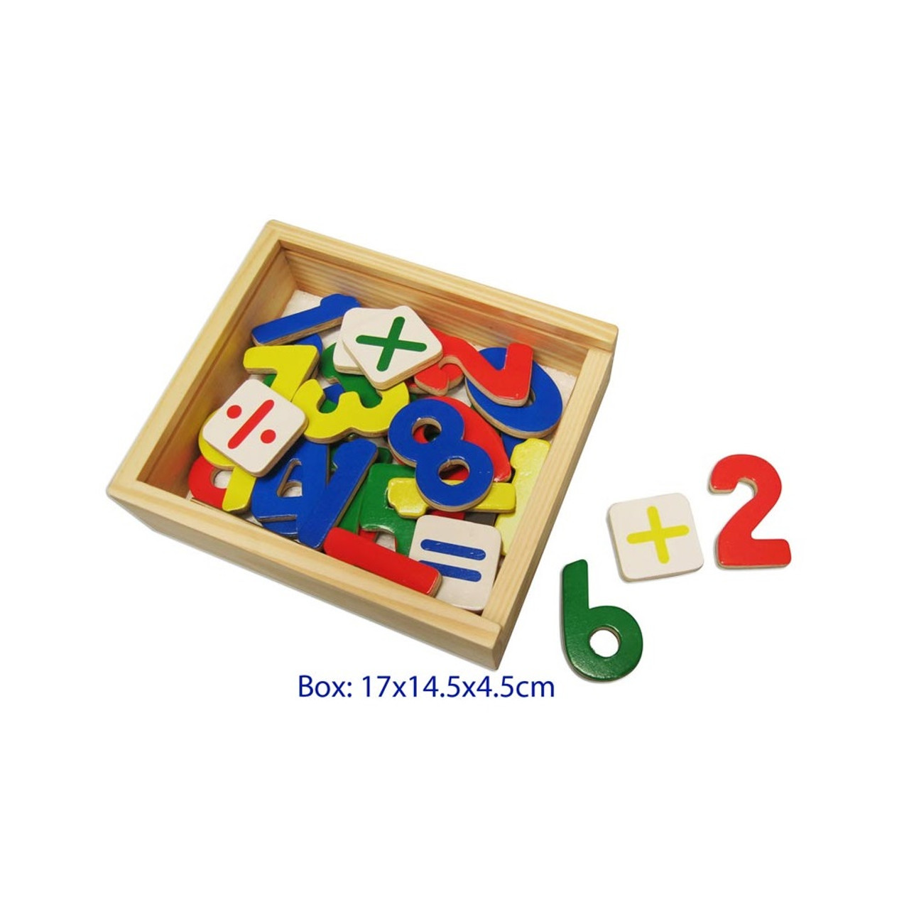 Fun Factory Wooden Magnetic Numbers in Box - 37 Pieces