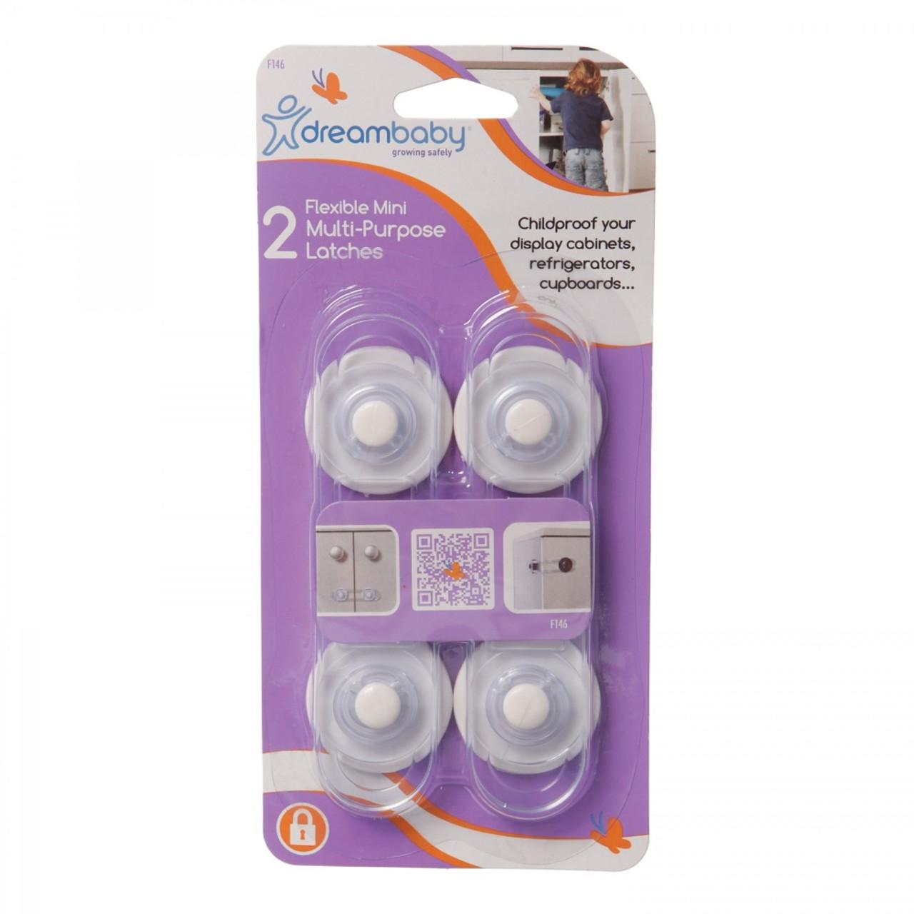 Dreambaby Flexible Mini Multi Purpose Latches 2 Pack
