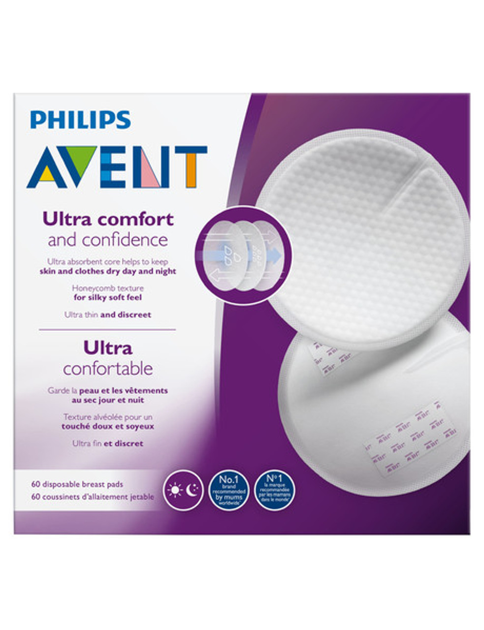 Avent Disposable Day & Night Breast Pad 60pcs