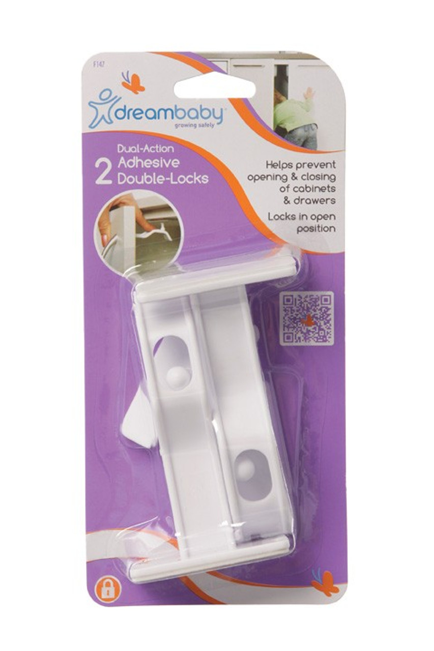 Dreambaby - Adhesive Double Lock 2 Pack