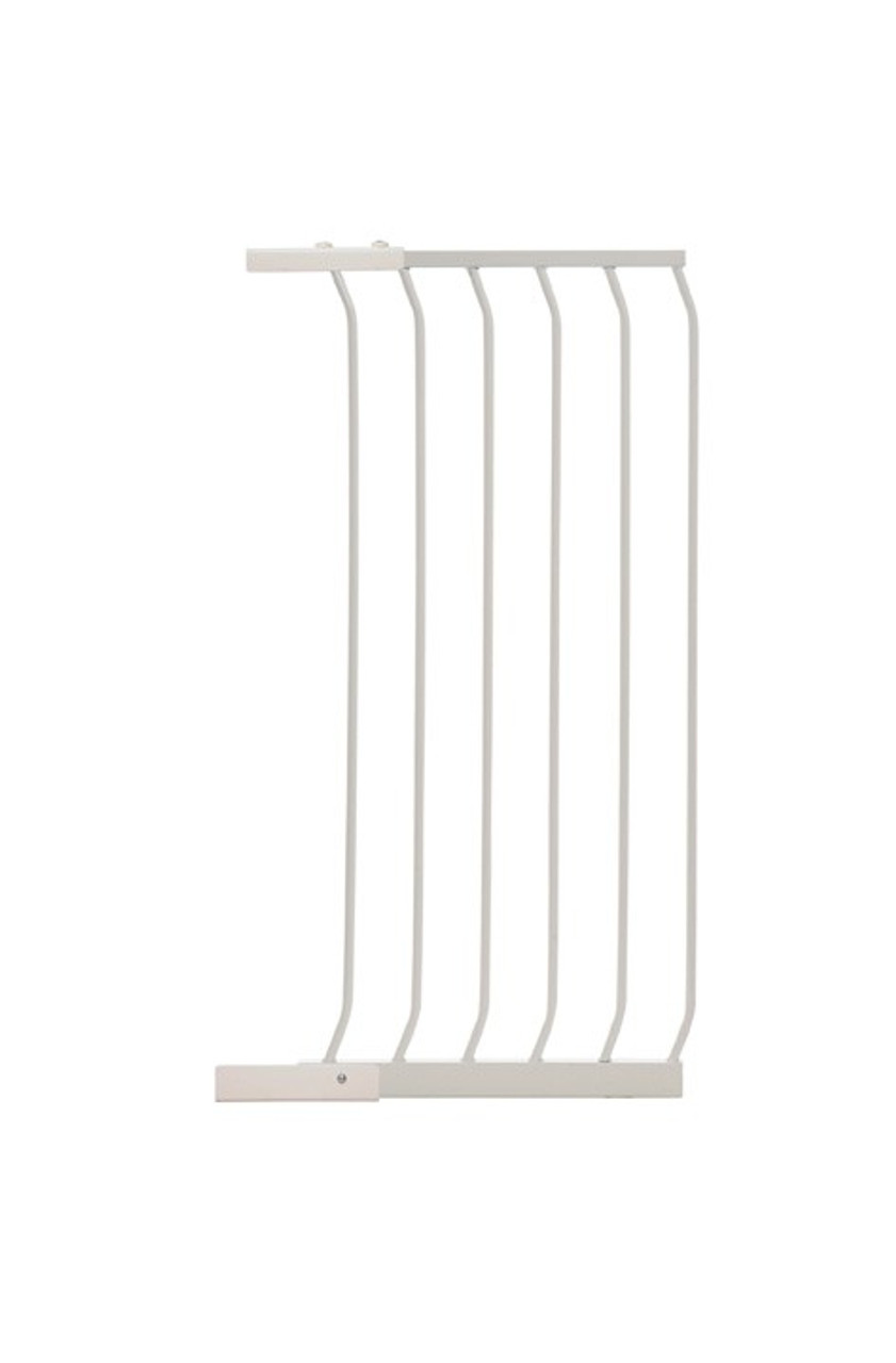 Dreambaby Chelsea ExtraTall Gate Extension 36cm F841 (old packaging) at Baby Barn Discounts Dreambaby Chelsea Tall Gates are 1M high and provide greater security and peace of mind for busy parents