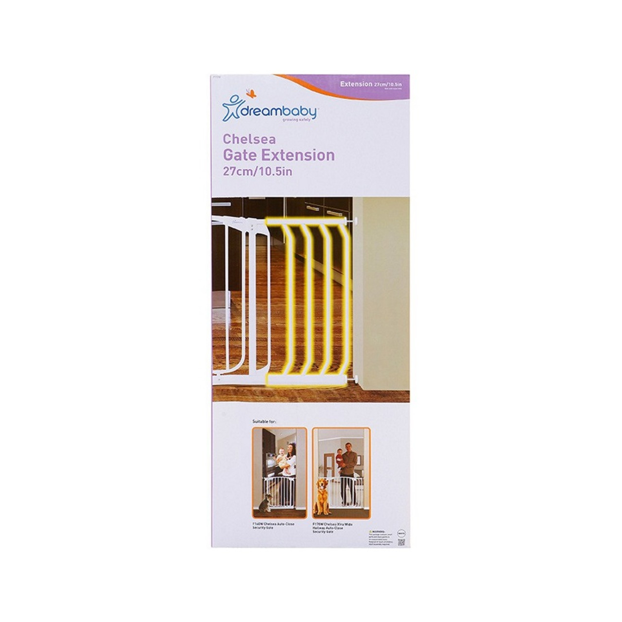 Dreambaby Chelsea 27cm Gate Extension