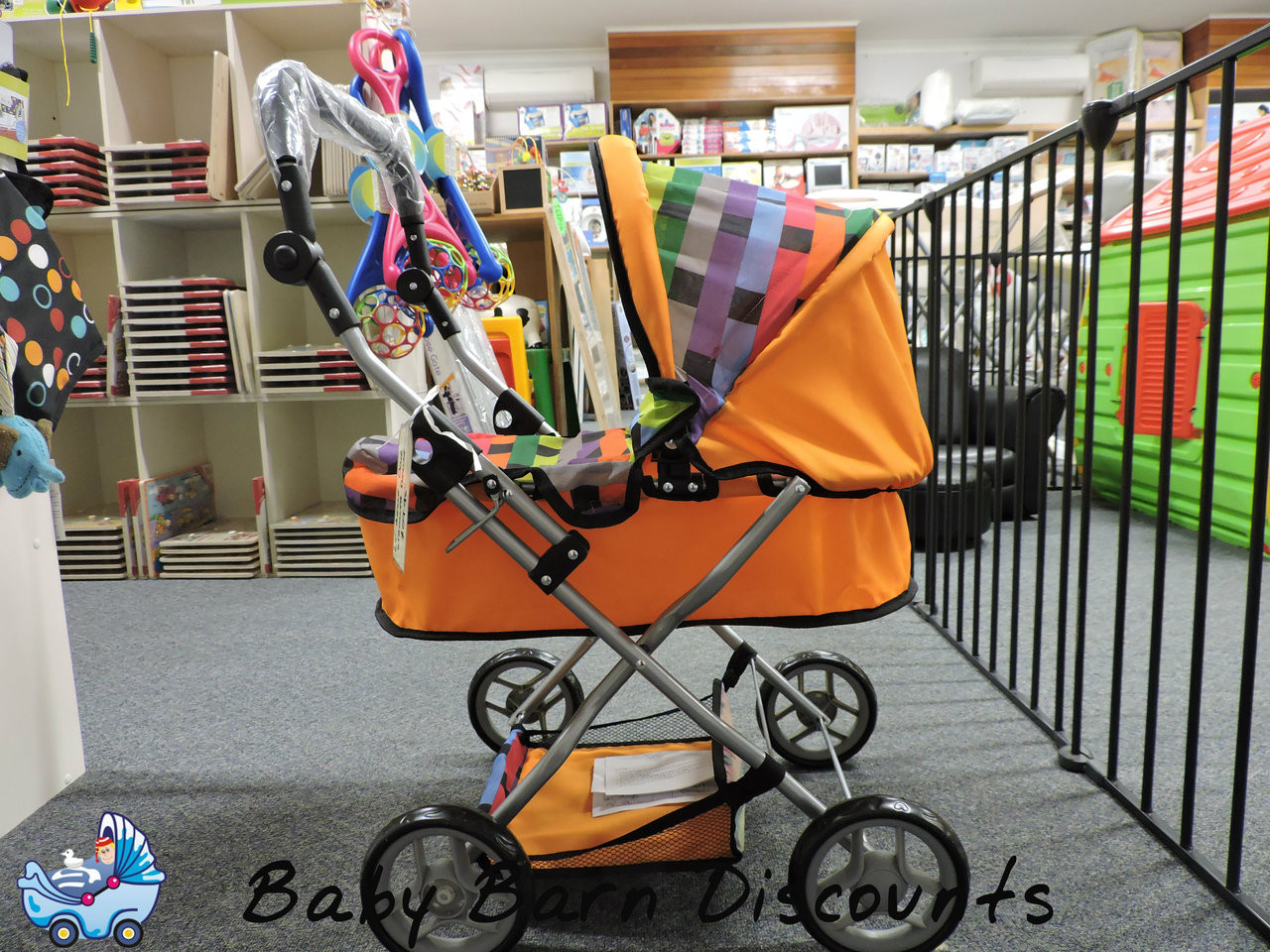 Deluxe Doll Pram - Side View
