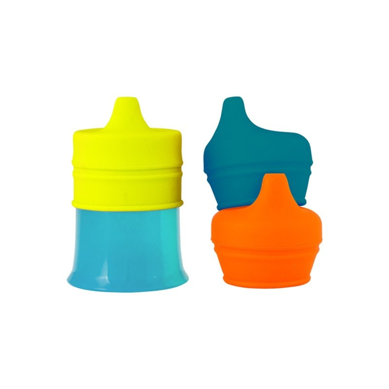 Boon Snug Spout with Cup at Baby Barn Discounts SNUG silicone sippy lids fit over any regular cup with a 2.5'–3.75' diameter and instantly prevent that cup from spewing its contents.
