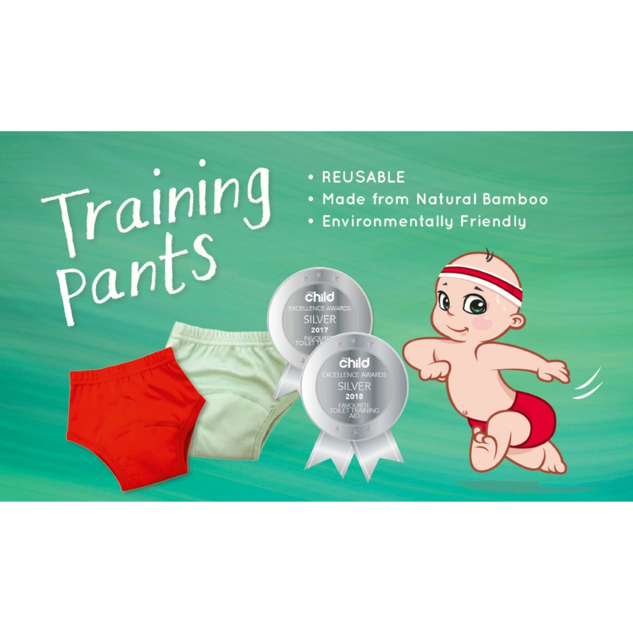 Pea Pods Reusable Training Pants - Red