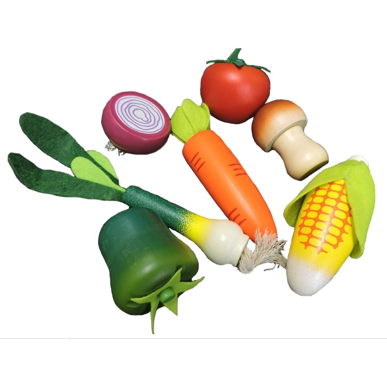 Pretend Play Vegetable Wooden Toys
