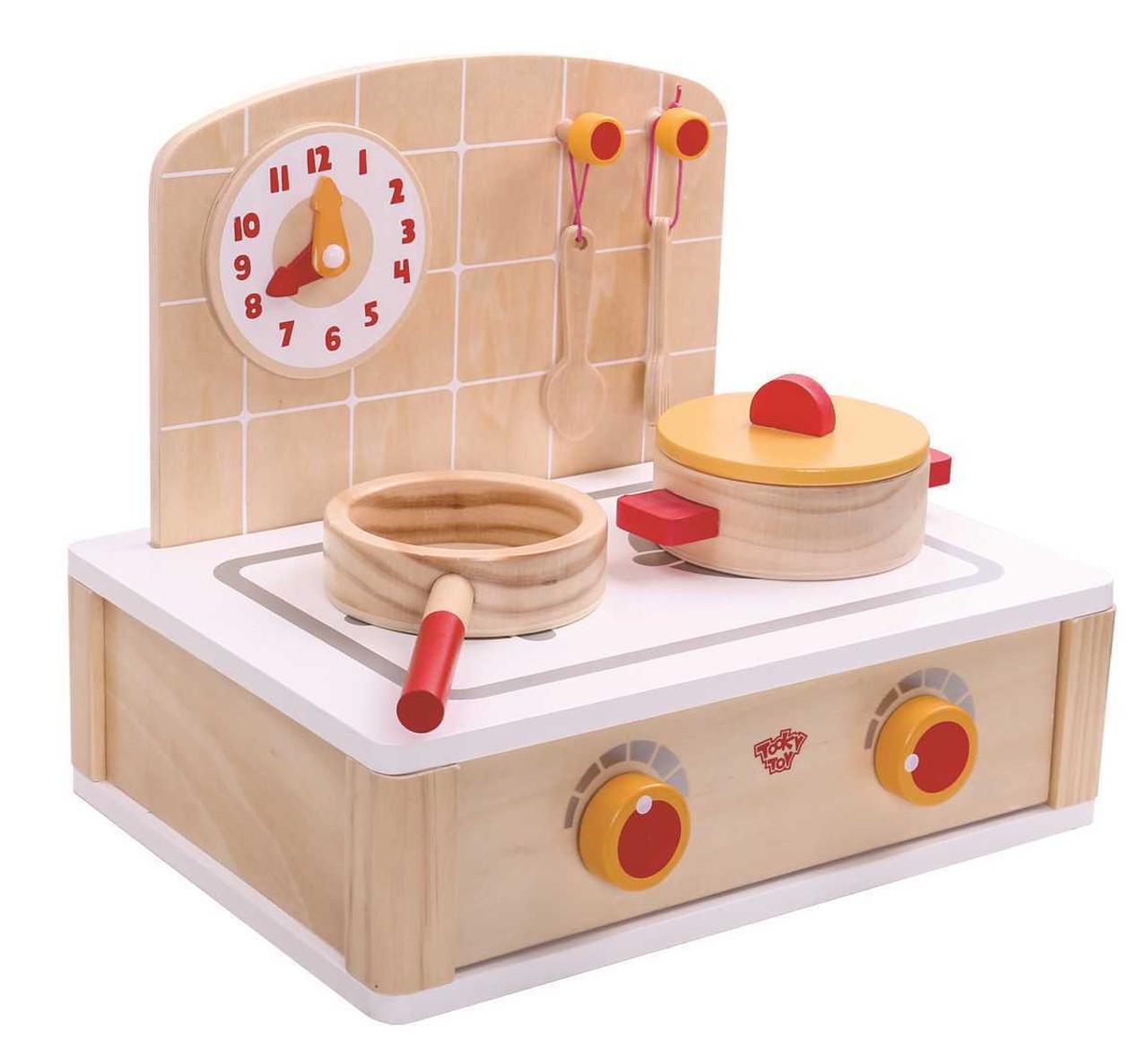 Eleganter - Tooky Toy Wooden Cute Kitchen Set Pretend Play