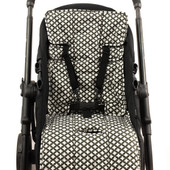 Outlook - 100% Cotton Pram Liner - Charcoal Crosses