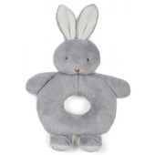 Bunnies by the Bay Grey Ring Rattle Bunny