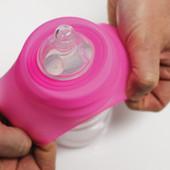 Cherub Baby Clip n Sip Universal Silicone Lid - Pink shown