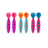 Boon Modware Toddler Utensils - Purple/Teal/Pink