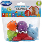 Playgro Under the Sea Squirtees 5pcs Bath Toy