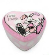 Little Miracles Ceramic First Tooth Trinket Keepsake Box - PINK