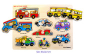 Fun Factory - Vehicles Wooden Puzzle with Knobs