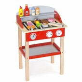 Viga Wooden BBQ Barbecue Grill Toy with Accessories Pretend Play Gift
