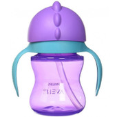 Avent Dinosaur Straw Cup 200ml - PURPLE