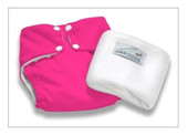 Pea Pods Modern Cloth Nappies One Size Fits Most at Baby Barn - Hot Pink
