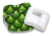 Pea Pods Modern Cloth Nappies One Size Fits Most at Baby Barn - Dragon Scales Print