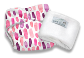 Pea Pods Modern Cloth Nappies One Size Fits Most at Baby Barn - PINK WATERCOLOUR