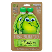 Little Mashies Reusable Squeeze Pouch Twin Pack - GREEN